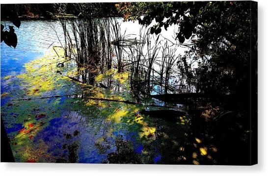 Monet Ice Age Pond Canvas Print