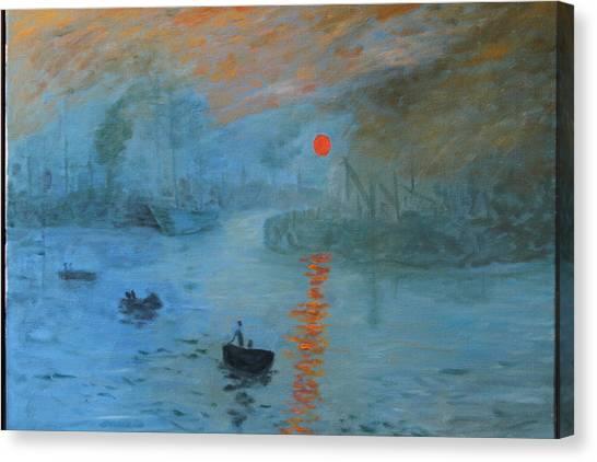 Monet Sunrise By Dg Canvas Print