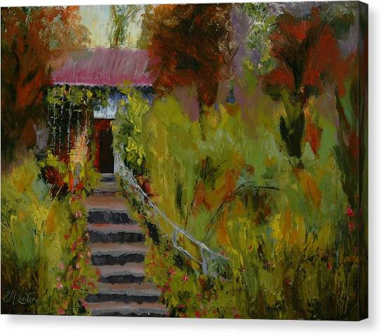 Monet's Garden Cottage Canvas Print by Colleen Murphy