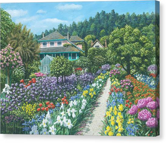 Fibonacci Canvas Print - Monet's Garden Giverny by Richard Harpum