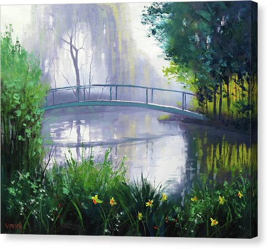 Brook Canvas Print - Monet's Garden  by Graham Gercken