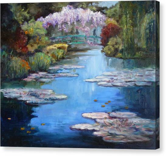 Monet's Garden In Giverny Canvas Print
