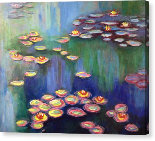 Monet's Lily Pads Canvas Print