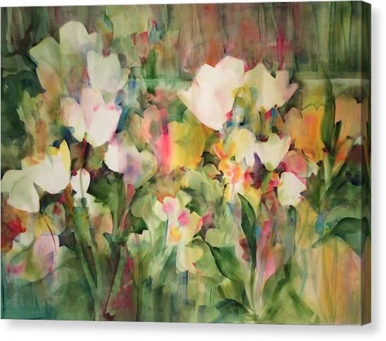 Monet's Tulips Canvas Print