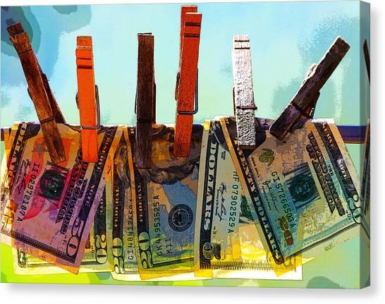 Money Laundering  Canvas Print