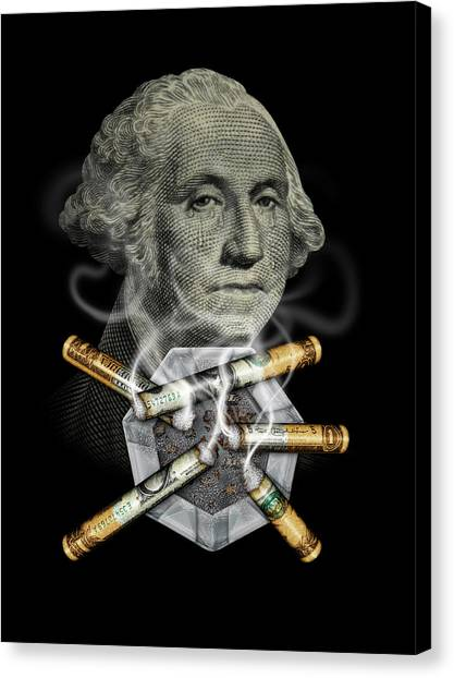 Money Up In Smoke Canvas Print