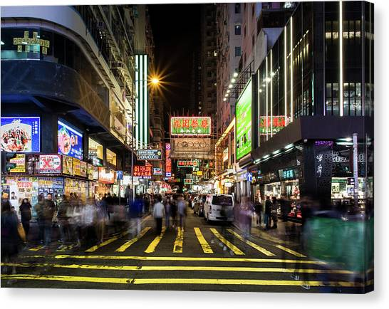 Mong Kok Crosswalk Canvas Print