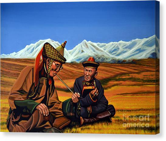 Buddhist Canvas Print - Mongolia Land Of The Eternal Blue Sky by Paul Meijering