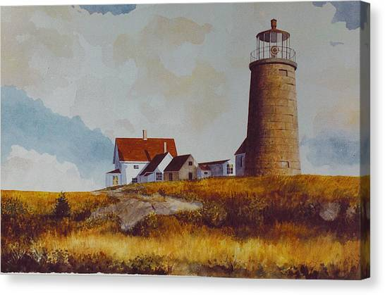 Monhegan Light Canvas Print