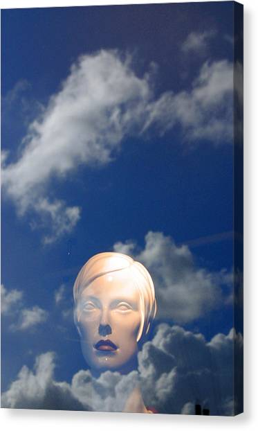 Monica In The Clouds 2 Canvas Print by Jez C Self