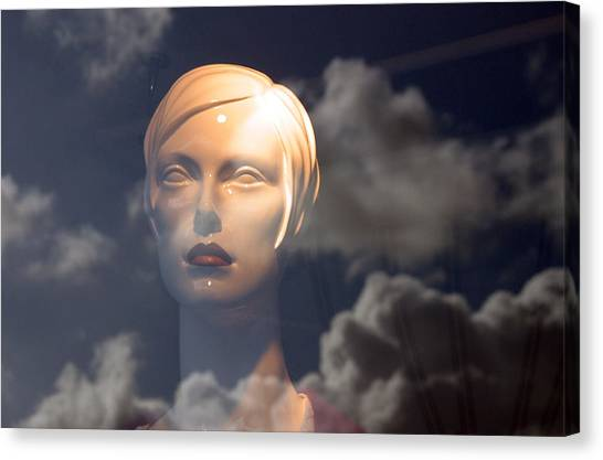 Monica In The Clouds Canvas Print by Jez C Self