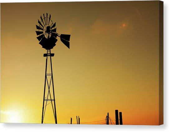 Evansville Canvas Print - Monitor Silhouette by Todd Klassy