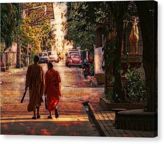 Monk Mates Canvas Print