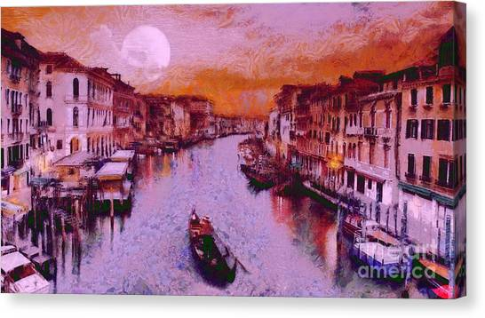 Monkey Painted Italy Again Canvas Print