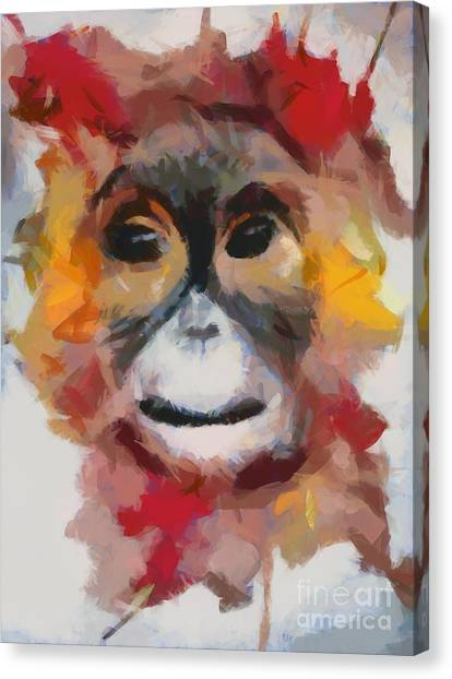 Monkey Splat Canvas Print