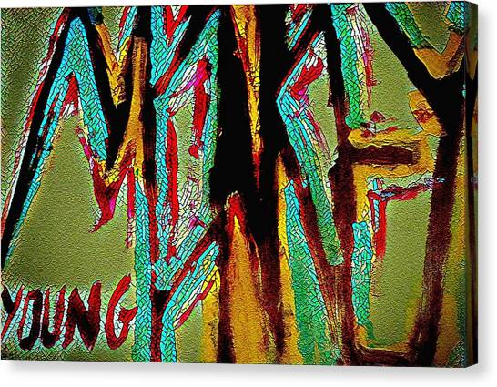 Monkey Young  Canvas Print