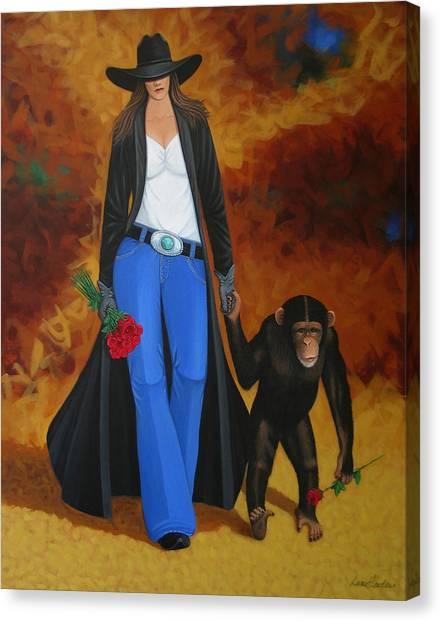 Lance Headlee Canvas Print - Monkeys Best Friend by Lance Headlee