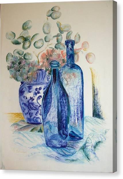 Monnaie Bleue Canvas Print by Muriel Dolemieux