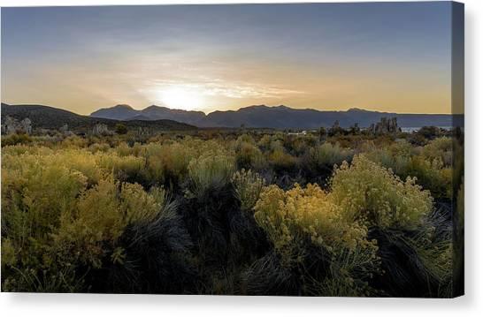 Mono Lake Sunset Canvas Print by K Pegg