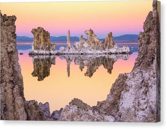 Mono Lake Through A Tufa Frame Canvas Print