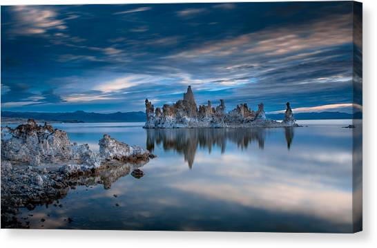 Blue Sky Canvas Print - Mono Lake Tufas by Ralph Vazquez