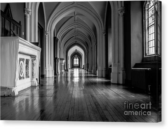 Mono Melleray Corridor Canvas Print