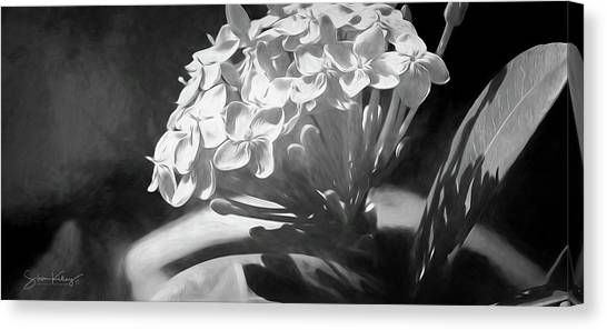 Monochrome Flora Canvas Print