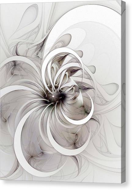 Apophysis Canvas Print - Monochrome Flower by Amanda Moore