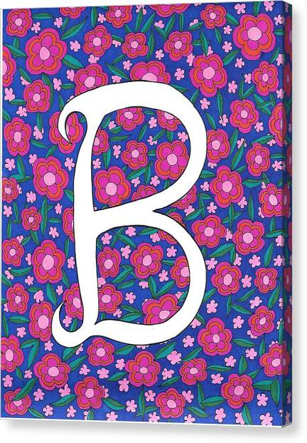 Monogram B Canvas Print