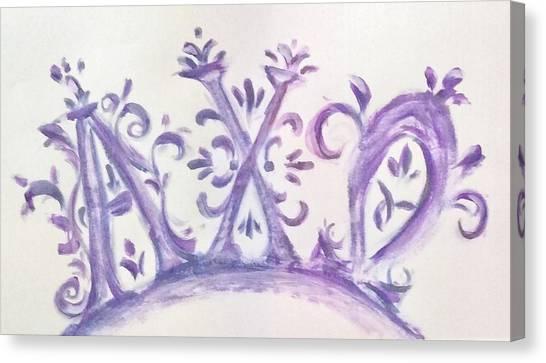 Chi Omega Canvas Print - Monogram Purple by Susie Monzingo