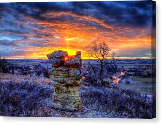 Monolithic Sunrise Canvas Print
