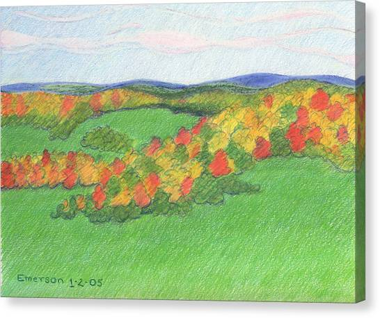Monongalia County Autumn Canvas Print by Harriet Emerson