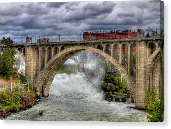 Monroe Street Bridge Spokane Canvas Print