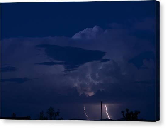 Monsoon Cloud And Lightening 20 Canvas Print