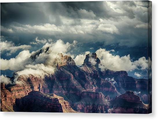 Monsoon Clouds Grand Canyon Canvas Print