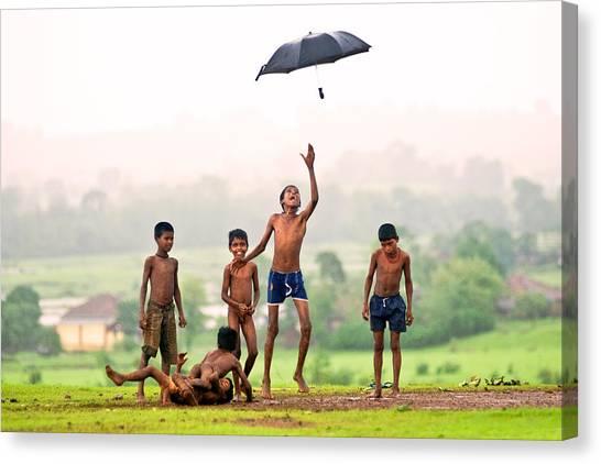 Monsoon Mania Canvas Print by Pramod Bansode