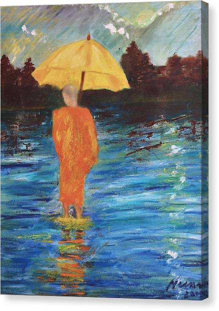 Monsoon Walk Canvas Print by Neena Alapatt