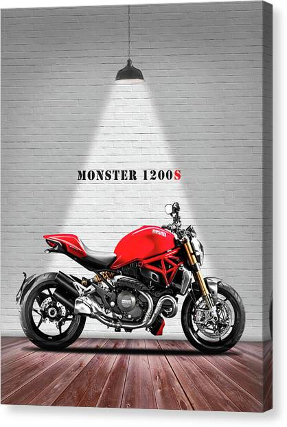 Ducati Canvas Print - Monster 1200 by Mark Rogan