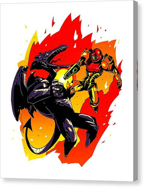 Metroid Canvas Print - Monster by Chris Totok