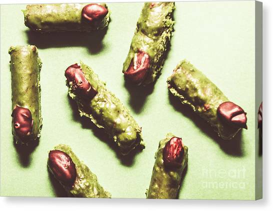 Horror Canvas Print - Monster Fingers Halloween Candy by Jorgo Photography - Wall Art Gallery