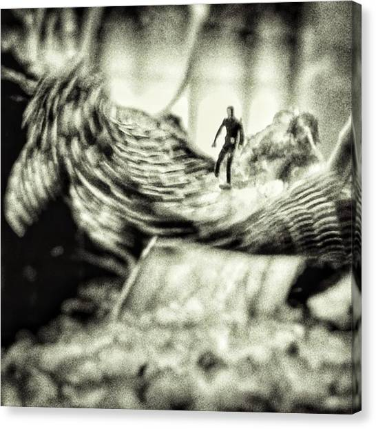 Fishing Canvas Print - Monster Fish #water #frogman #dive by Rafa Rivas