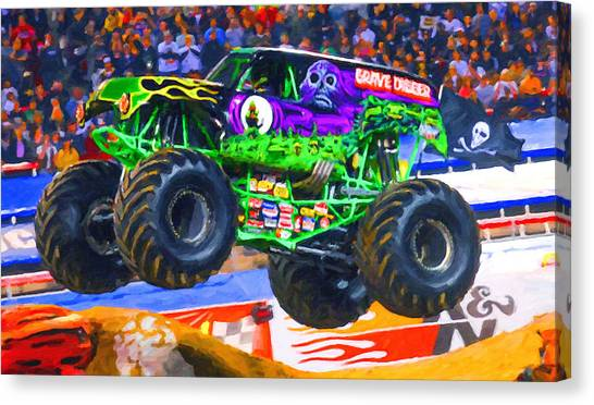 Monster Jam Grave Digger Canvas Print