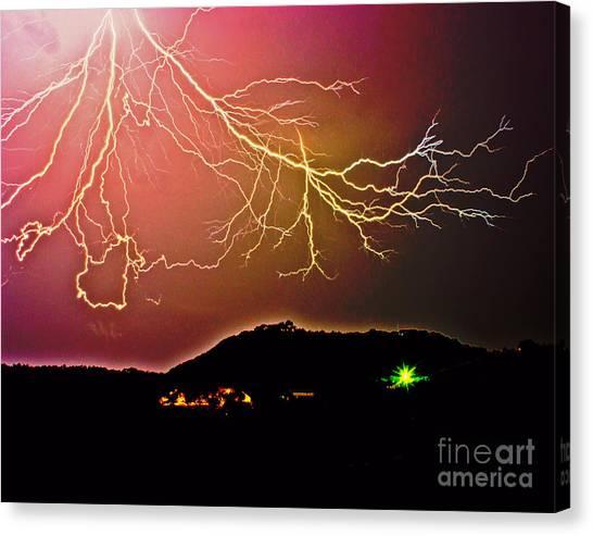 Monster Lightning By Michael Tidwell Canvas Print