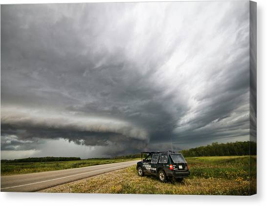 Monster Storm Near Yorkton Sk Canvas Print