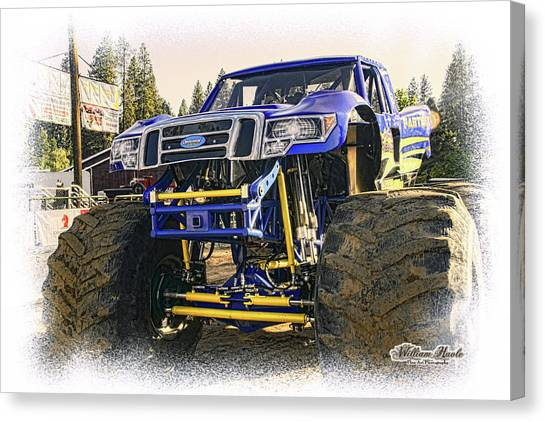 Canvas Print featuring the photograph Monster Truck At The Fair by William Havle