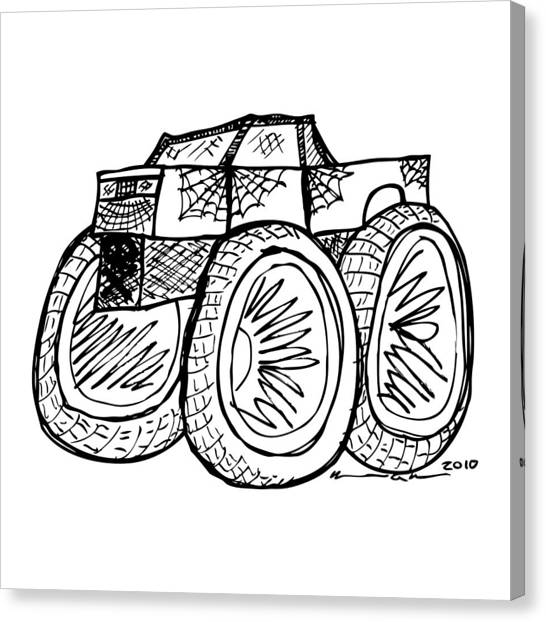 decal canvas prints page 5 of 21 fine art america Challenger Decals decal canvas print monster truck by karl addison