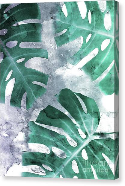 Jungles Canvas Print - Monstera Theme 1 by Emanuela Carratoni
