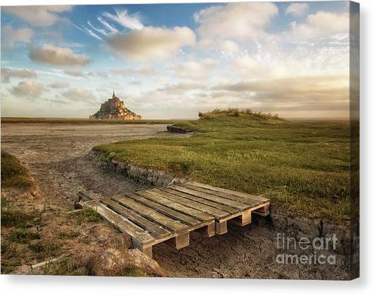 Mont Saint-michel's Bay Canvas Print