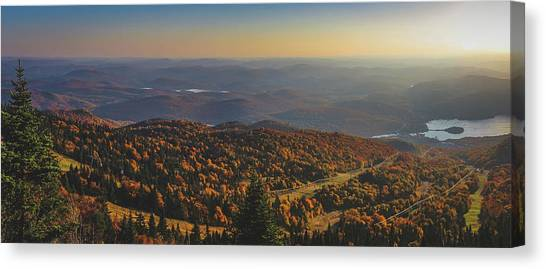 Mont Tremblant Summit Panorama Canvas Print