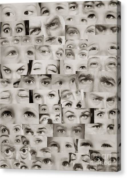 Different Opinions Canvas Print - Montage Of Eyes, C.1960s by H. Armstrong Roberts/ClassicStock